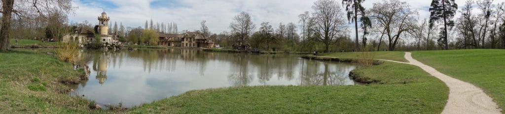 Panorama of Marie Antoinette's farm at Versailles hameau de la reine