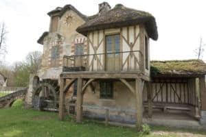 House with Waterwheel on Marie Antoinette's Farm