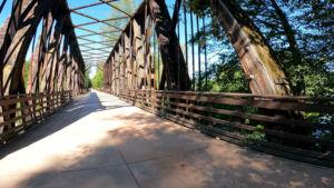 Railrioad Bridge Olympic Discovery Trail Sequim to Port Angeles